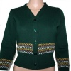 Fairisle Cardigan - Green