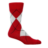 Argyle Socks - Dark Red & Grey