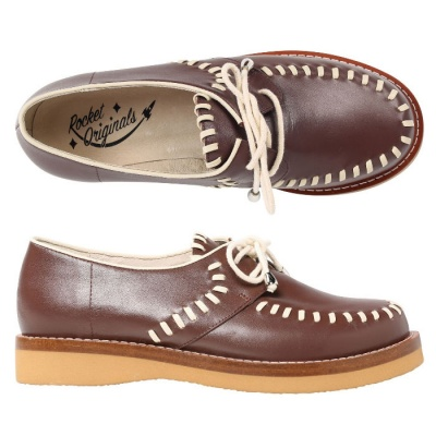 Ladies Stitched Gibson - Brown Leather