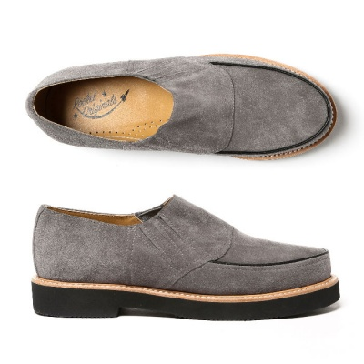 Piped Casual - Grey Suede