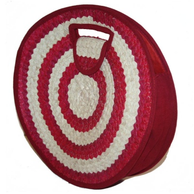 Round Bag - Red & Natural