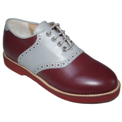 Saddle shoes - Burgundy/Grey