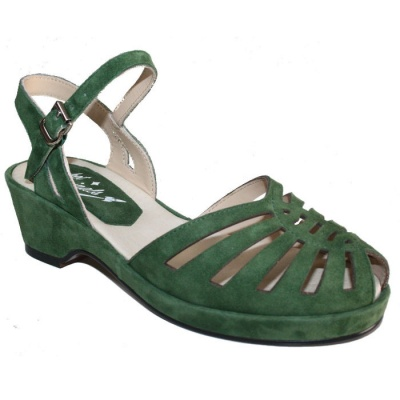 *REDUCED* Thelma - Green Suede