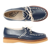 Ladies Stitched Gibson - Blue Leather
