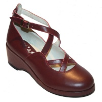 Celia Style - Burgundy Leather