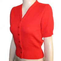 *REDUCED* Short Sleeve Cardigan - Red