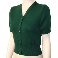 Short Sleeve Cardigan - Green