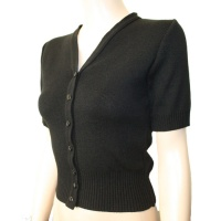 SALE ~ Short Sleeve Cardigan - Black