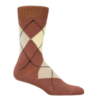 Argyle Socks - Brown