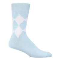 8 Diamond Socks - Blue & White