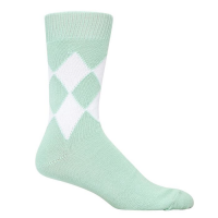 8 Diamond Socks - Spearmint & White