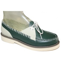 Mitzi - Green & Cream Leather