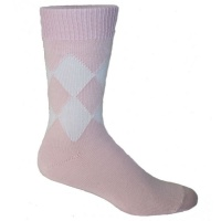 8 Diamond Socks - Pink & White