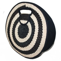 Round Bag - Black & Natural