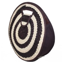 Round Bag - Dark Brown & Natural