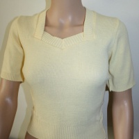 Sweetheart Neck Sweater - Yellow