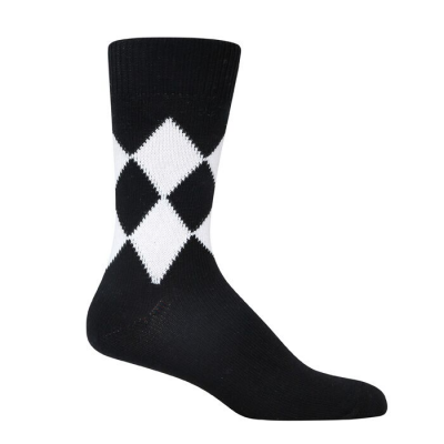 8 Diamond Socks - Black & White