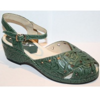 Wendy - Green Tooled Leather